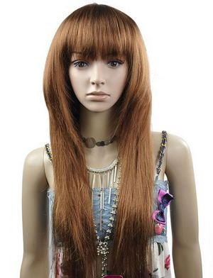 Long Straight Cosplay Everyday Full Wigs With One Cap WL47