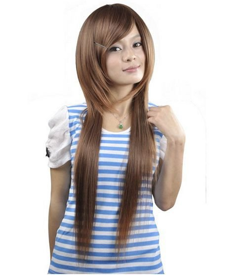 LONG STRAIGHT COSPLAY EVERYDAY HAIR FULL WIGS WL57