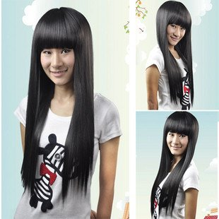 LONG STRAIGHT COSPLAY EVERYDAY HAIR FULL WIGS WL59