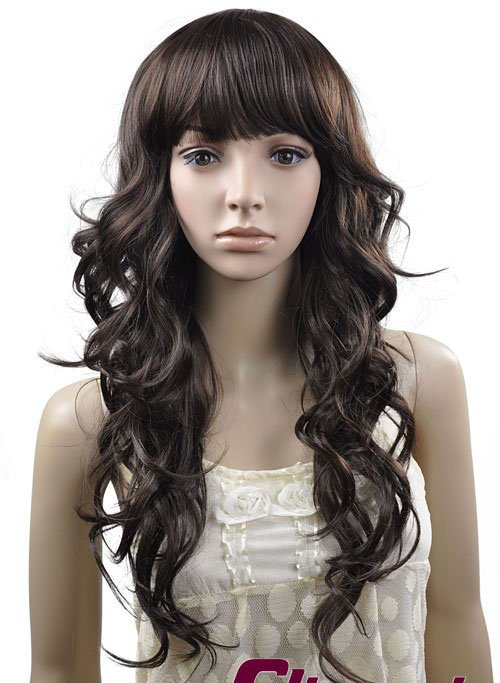 LONG CURLY WAVE COSPLAY EVERYDAY HAIR FULL WIGS WL60