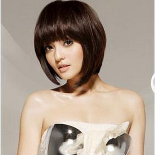 Woman Short Dark Brown BOBO Fashion Wigs With Wig Cap WD05