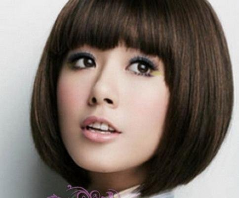 Woman Short Straight  Light Brown Fashion  Wigs With Wig Cap  WD10