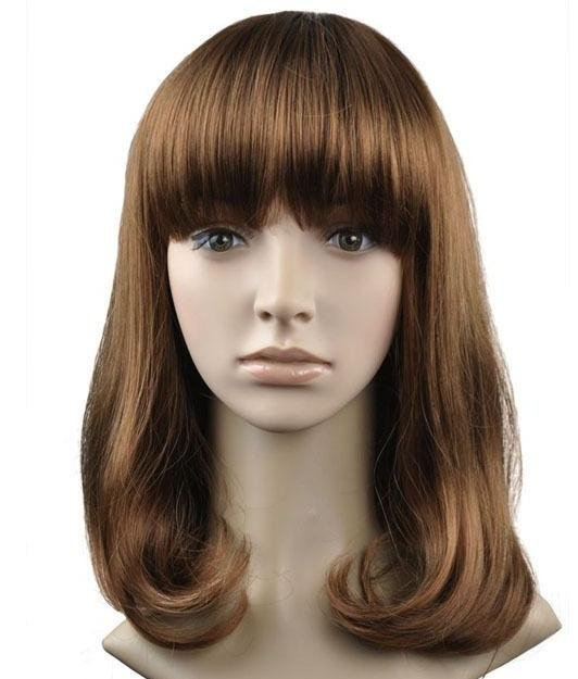 Woman Lady New Fashion Brown Wigs With Wig Cap WD27