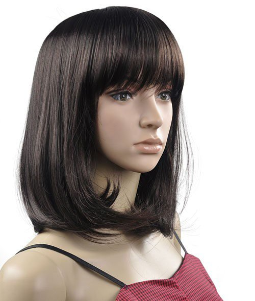 Lady Straight Cosplay Everyday Full Wigs With One Cap WD28