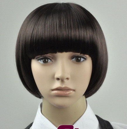 Short Straight Cosplay Everyday Full Wigs With One Cap WD30