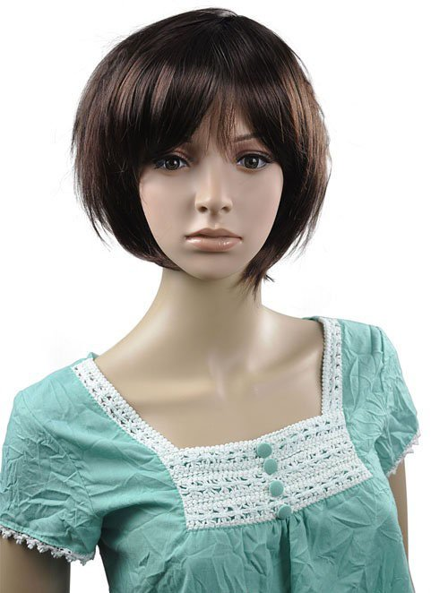 Short Straight Cosplay Everyday Full Wigs With One Cap WD38