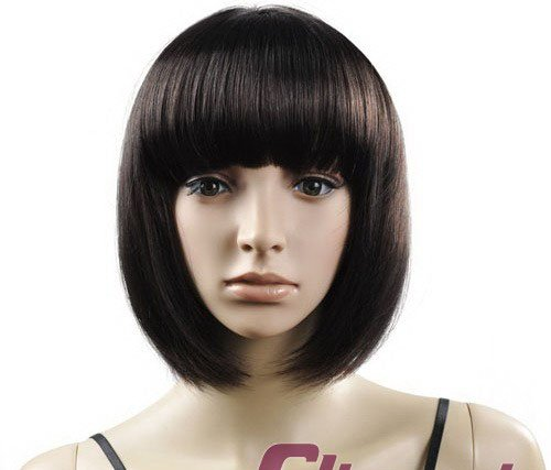 Short Straight Cosplay Everyday Full Wigs With One Cap WD39