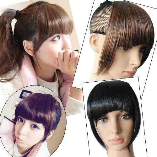 Girl's Hairpiece Clip-on Neat Bang Fringe Wigs Extensions PP01
