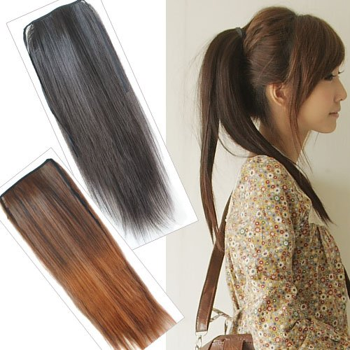 Girl's Hairpiece Long Ponytail Pony wig Hair Extensions PP05