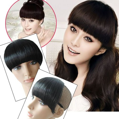 Girl's Hairpiece Clip-on Neat Bang Fringe Wigs Extensions PP02