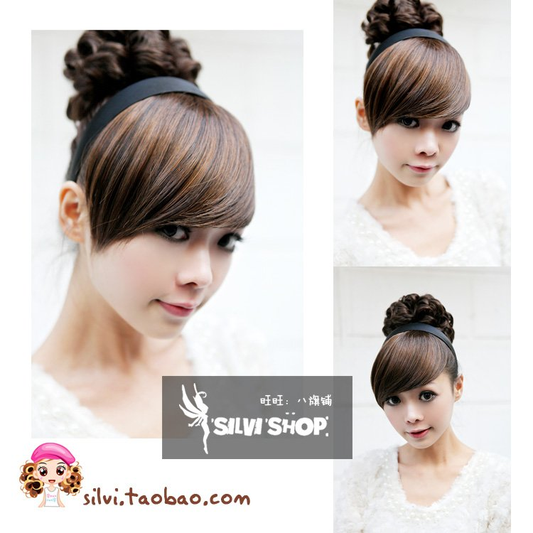 Girl's Lady Woman Hairpiece Hair Bun Wigs Extensions PP15