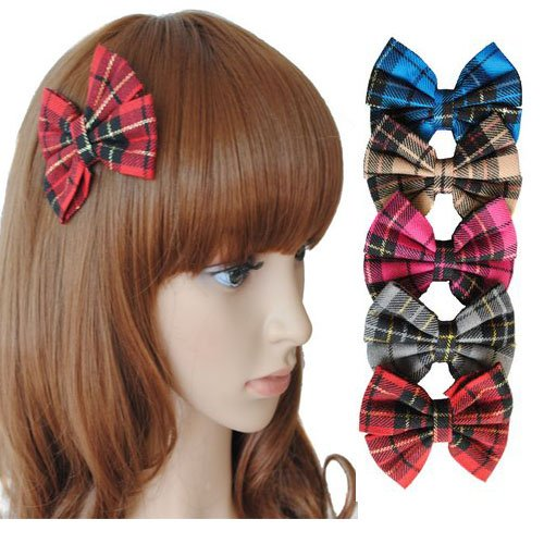 Girl's Lady Woman Headband Bowknot Butterfly Tie Hairpin Wigs Extension PP30