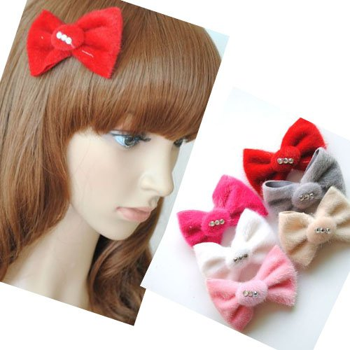 Girl's Kid's Headband Bowknot Butterfly Tie Hairpin Plush PP32