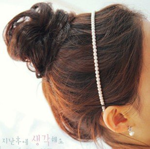 64Pcs Lady Woman Artificial Genuine Pearls Hair Band For Hair PP33