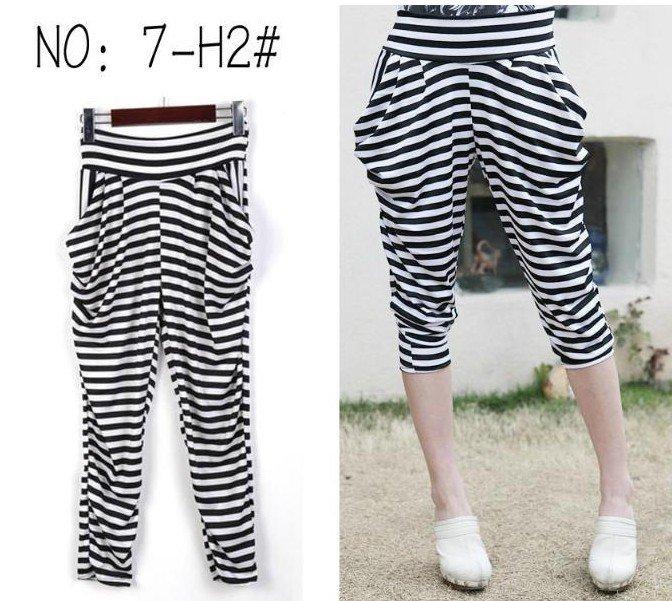 Girl's Ice Silk Stretch Harem Pants Trousers Leggings T09