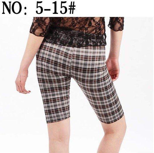 Render Pants Printing Cowboy Trousers Retro Grid Leggings T25