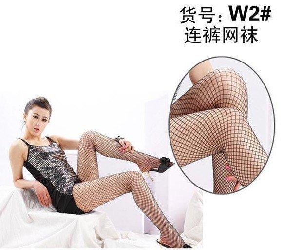 Lady Black Grid Fishnet Stockings Pantyhose Pierced Stockings T16