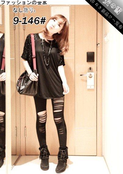 Lady Woman Irregularity Render Pants Cotton Trousers Leggings T17
