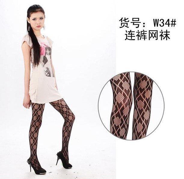 Lady Black Fishnet Stockings Square Sox Pantyhose Pierced Stockings T20