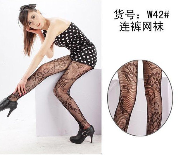 Lady Dancing Butterfly Fishnet Stockings Pantyhose Pierced Stockings T27