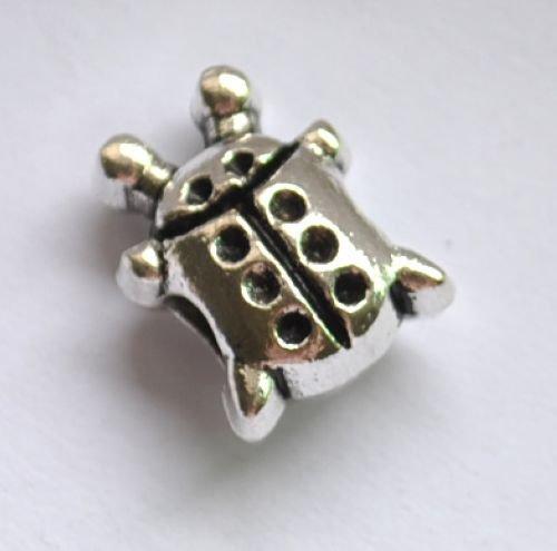 5pcs Ladybird Spacer Charm Beads Fits Bracelet Chain P156