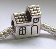5pcs House Spacer Charm Beads Fits Bracelet Chain P160
