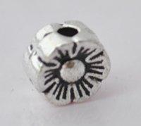 100pcs Silver Alloy Flower Beads Charm Fits Bracelet P181