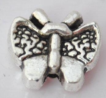 20pcs Silver Alloy Butterfly Beads Charm Fits Bracelet P186