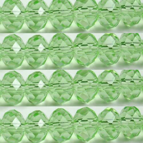 100pcs Faceted Glass Crystal Green Beads 6mm Fits Bracelet C07