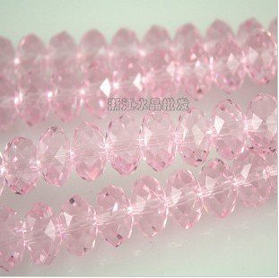 100pcs Faceted Glass Crystal Pink Beads 6mm Fits Bracelet C11