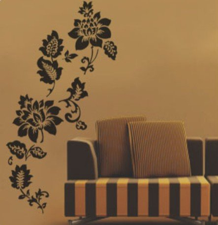 Removable Wall Stickers Art Deco Decal Sticker FlowerWB27