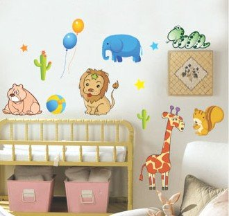Removable Wall Art Deco Decal Stickers Animals For KidsWB32