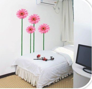 DIY Removable Wall Art Deco Decal Stickers Pink Flowers WB42