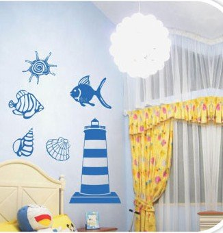 DIY Removable Wall Art Deco Decal Stickers Sea WorldWB47