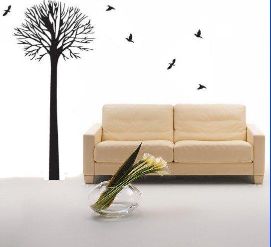 DIY Removable Art Deco Decal WallStickers Tree&BirdsWB52