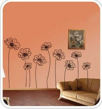 DIY Removable Art Deco Decal Wall Stickers Flower WB55