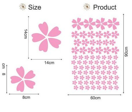 DIY Removable Wall Art Deco Decal Stickers Pink FlowersWB62