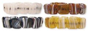 Glass Bead Bracelet Beige