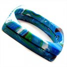 Italian Marble Double Square Bangle Blue