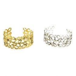 Vine Cuff Bracelet Silver