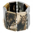 Western Theme Rectangle Link Stretch Bracelet Style 2