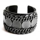 Dark Silver Tone Cuff Bracelet