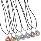 Glass Pendant Necklaces Grey Black