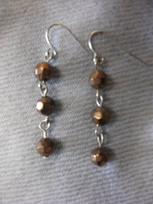 Small Bronze Bead Earrings