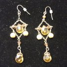 Gold Bead & Pearl Dangle Earring