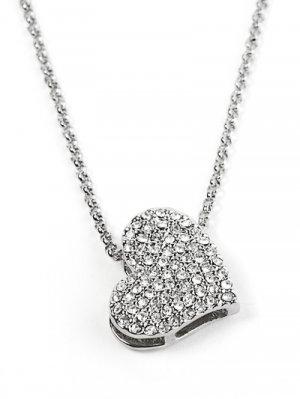 Rhinetone Encrusted Heart Necklace