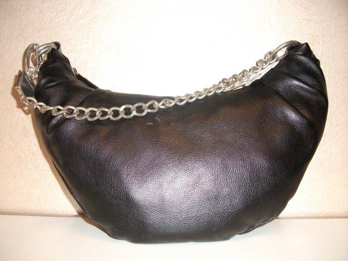 Black Handbag with Handcuff Detail