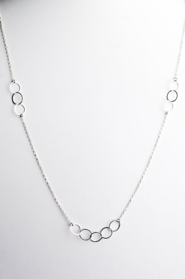 Ofina Small Circles Long Sterling Necklace