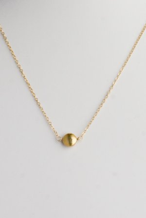 Ofina Small 14kt Gold Nugget Necklace