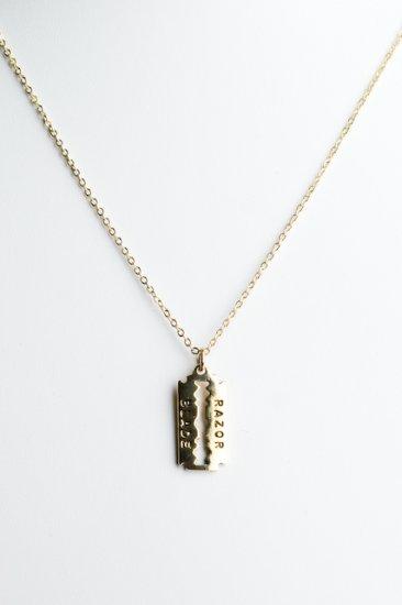 Ofina Sterlingplated Razorblace Necklace